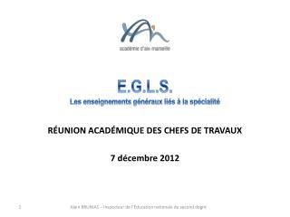 E.G.L.S. Les enseignements généraux liés à la spécialité