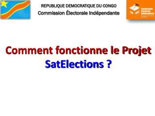 REPUBLIQUE DEMOCRATIQUE DU CONGO Commission Électorale Indépendante