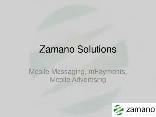 Zamano Solutions