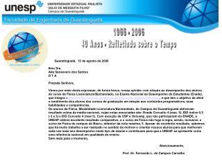 1966 - 2006 40 Anos - Refletindo sobre o Tempo