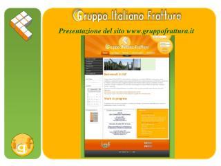 Presentazione del sito gruppofrattura.it