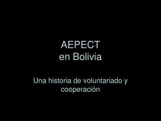AEPECT en Bolivia