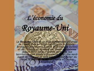 L'économie du  Royaume-Uni
