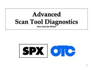 Advanced  Scan Tool Diagnostics Steve Zack Jim Wilson