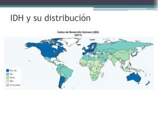 IDH y su distribución