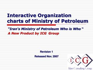 Interactive Organization charts of Ministry of Petroleum