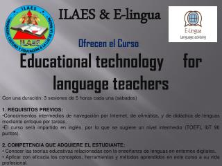 Educational technology     for language teachers