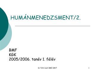 HUMÁNMENEDZSMENT/2.