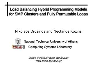 Load Balancing Hybrid Programming Models for SMP Clusters and Fully Permutable Loops