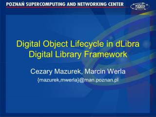 Digital Object Lifecycle in dLibra Digital Library Framework