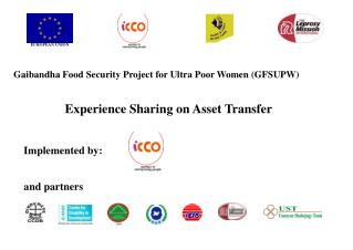 Gaibandha Food Security Project for Ultra Poor Women GFSUPW