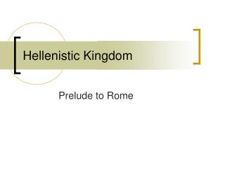 Hellenistic Kingdom