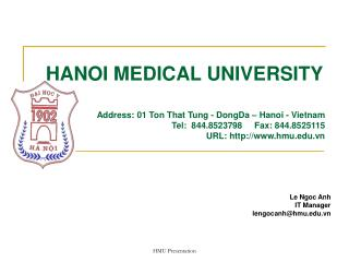 HANOI MEDICAL UNIVERSITY