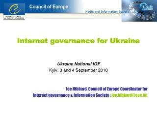 Internet governance for Ukraine