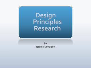 Design Principles Research