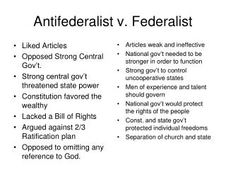 The Federalist Era