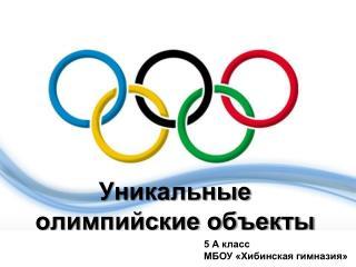 Уникальные олимпийские объекты