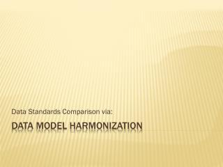 Data Model Harmonization