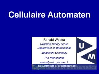 Cellulaire Automaten