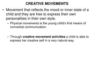 CREATIVE MOVEMENTS