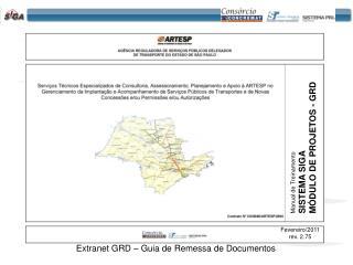 Extranet GRD – Guia de Remessa de Documentos