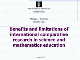 AMSTEL – Seminar Pauline Vos