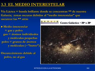 3.3  EL MEDIO INTERESTELAR