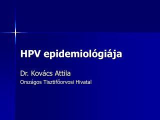 HPV epidemiológiája