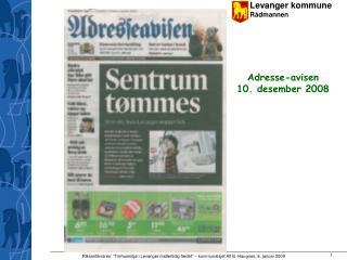 Adresse-avisen  10. desember 2008