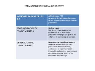 FORMACION PROFESIONAL DE DOCENTE