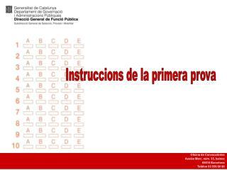 Instruccions de la primera prova