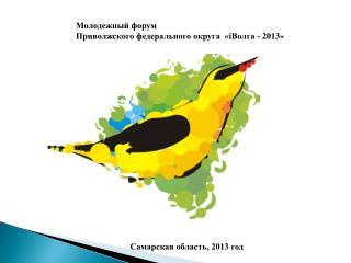 Молодежный форум Приволжского федерального округа  « i Волга - 2013»