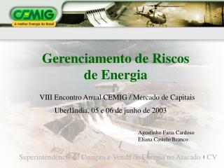 Gerenciamento de Riscos de Energia