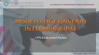 MODELO DE CONVENIO INTERMUNICIPAL