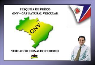 PESQUISA DE PREÇO GNV – GÁS NATURAL VEICULAR