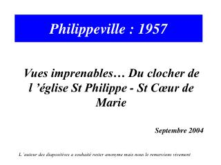 Philippeville : 1957