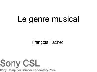 Le genre musical