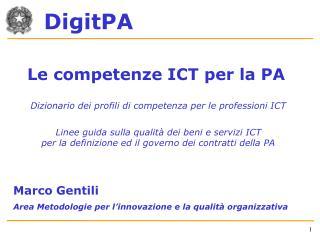 Le competenze ICT per la PA