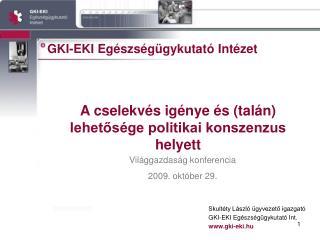 GKI-EKI Eg�szs�g�gykutat� Int�zet