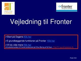 Vejledning til Fronter