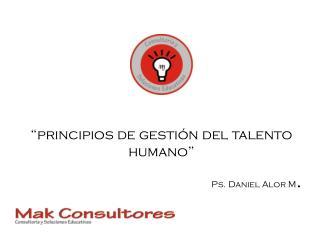 """""""principios de gestión del talento humano"""""""