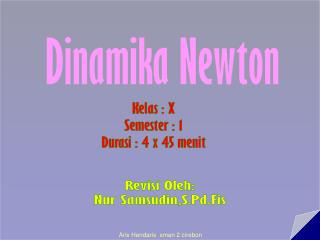 Dinamika Newton