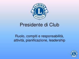 Presidente di Club