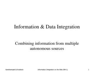 Information  Data Integration
