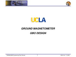 GROUND MAGNETOMETER GBO DESIGN