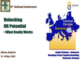 Amalia Picleanu – Savinescu,  Managing Partner Tandem Consulting,  Bucharest, Romania