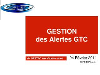 GESTION des Alertes GTC