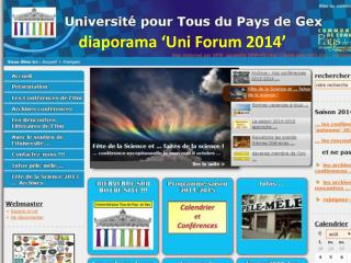 diaporama 'Uni Forum 2014'