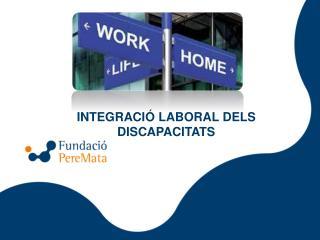 INTEGRACIÓ LABORAL DELS DISCAPACITATS