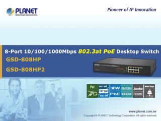 8-Port 10/100/1000Mbps  802.3at PoE  Desktop Switch